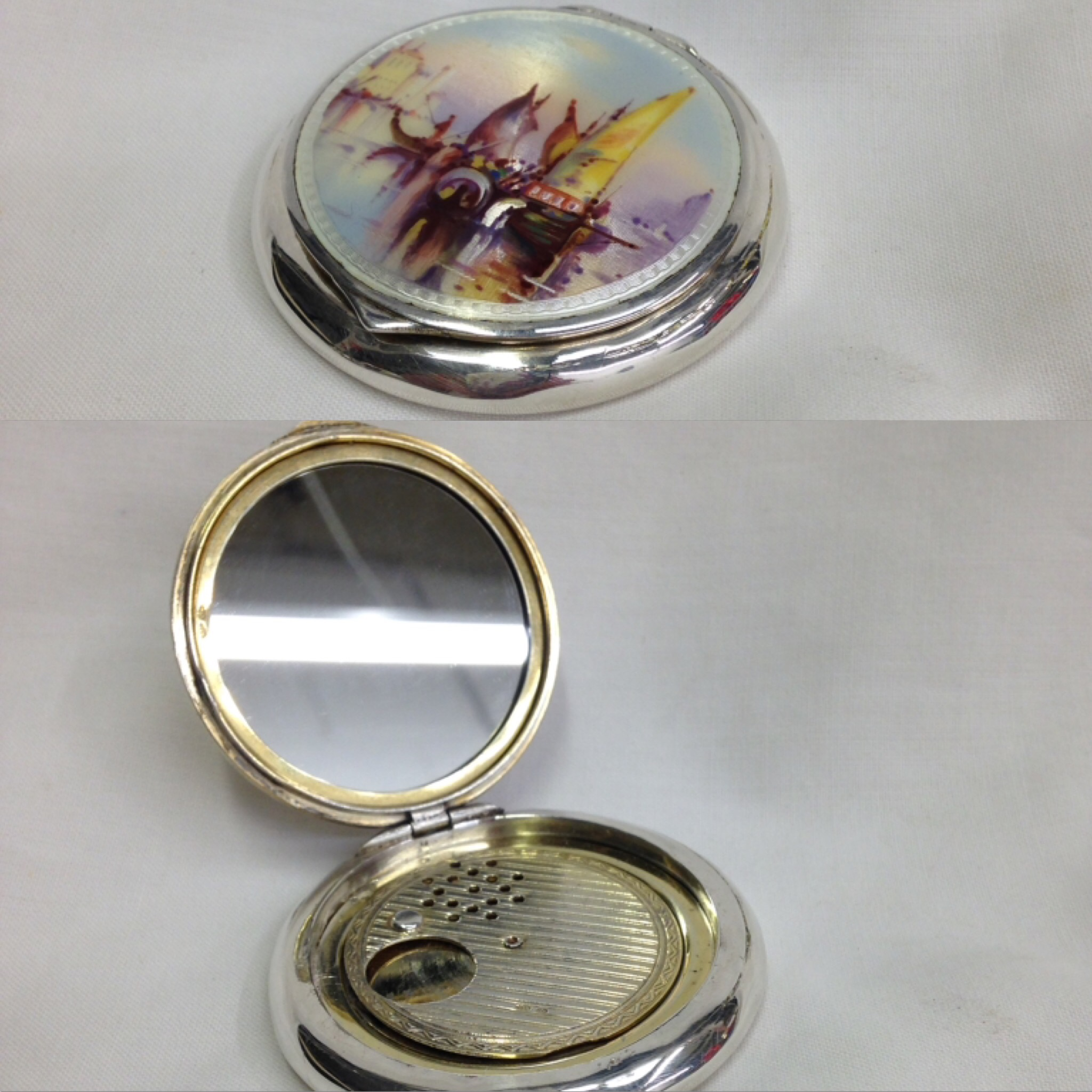 makeup compact with mirror replaced