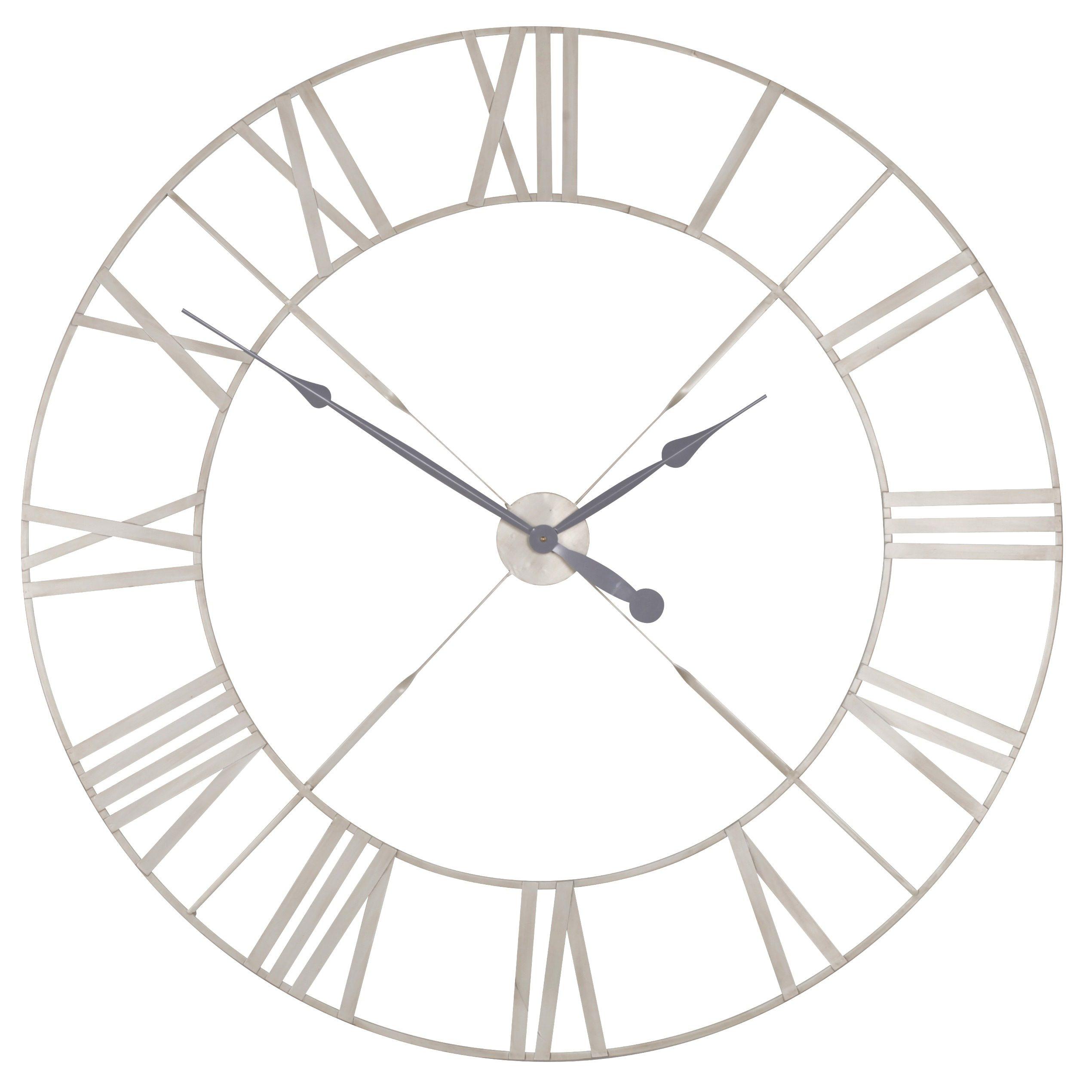 Vintage Cream Distressed 110cm Twist Frame Wall Clock