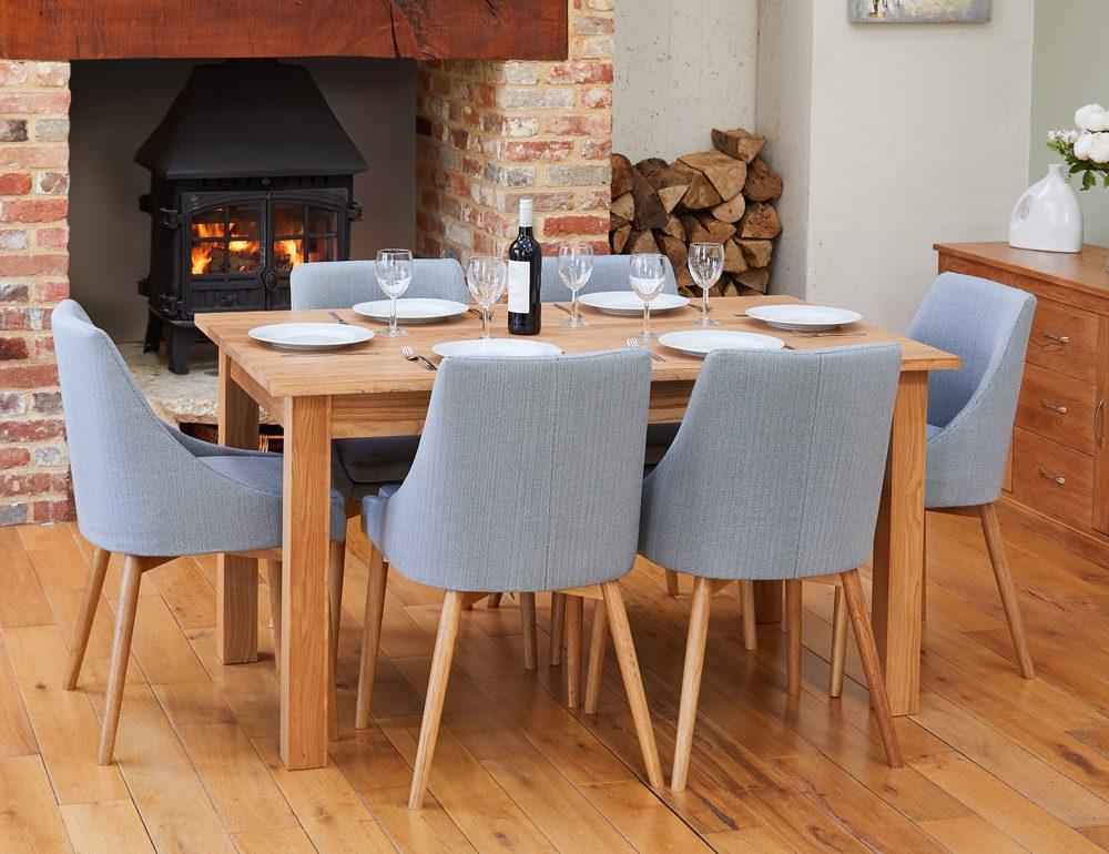 BUNDLE – Mobel COR04B Table with 6 x COR03L Chairs