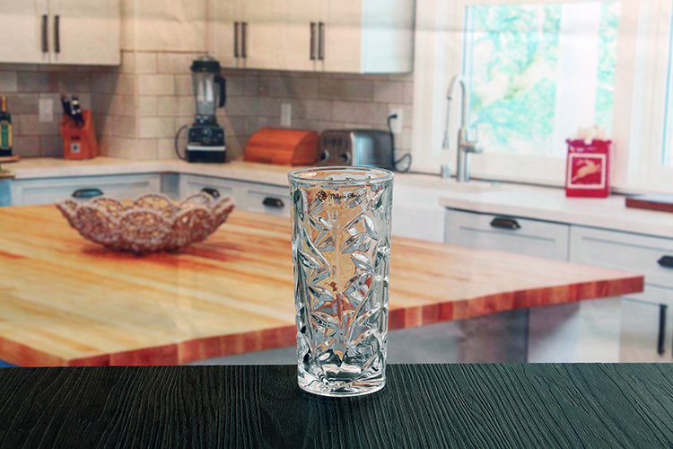 Embossed glass cups