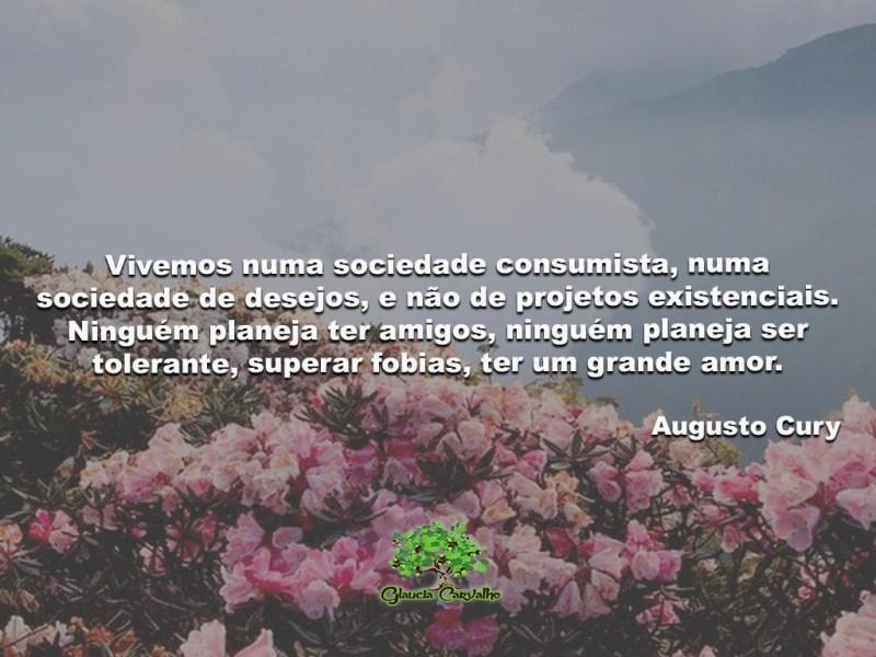 Vivemos numa sociedade consumista, numa sociedade de desejos...
