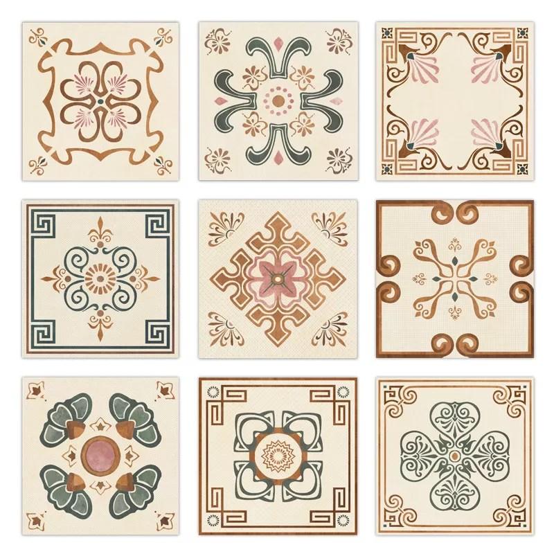 200x200 deco ceramic glazed floor tiles glazed porcelain tile the lotus pool by moonlight
