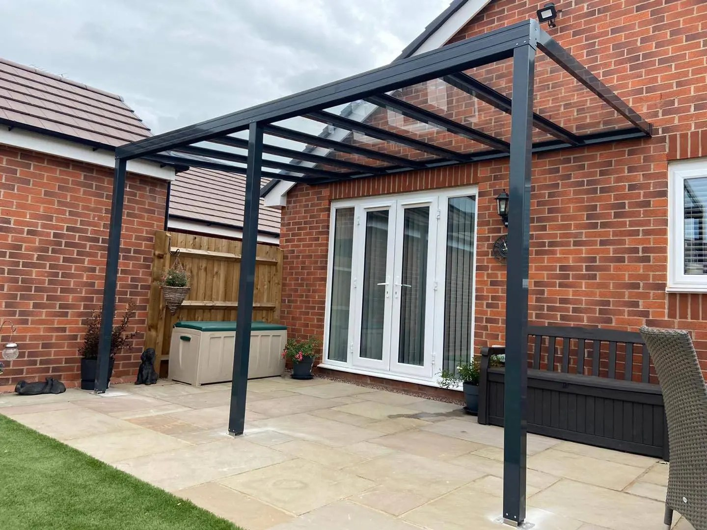up to 4 0m length 6mm glass patio cover veranda select projection