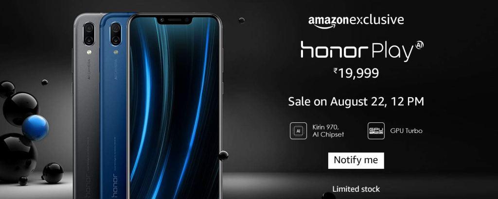honor play amazon launch
