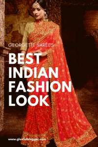 Best Indian Fashion Look georgette sarees for best drape and fashion. Pure georgette sarees and styles
