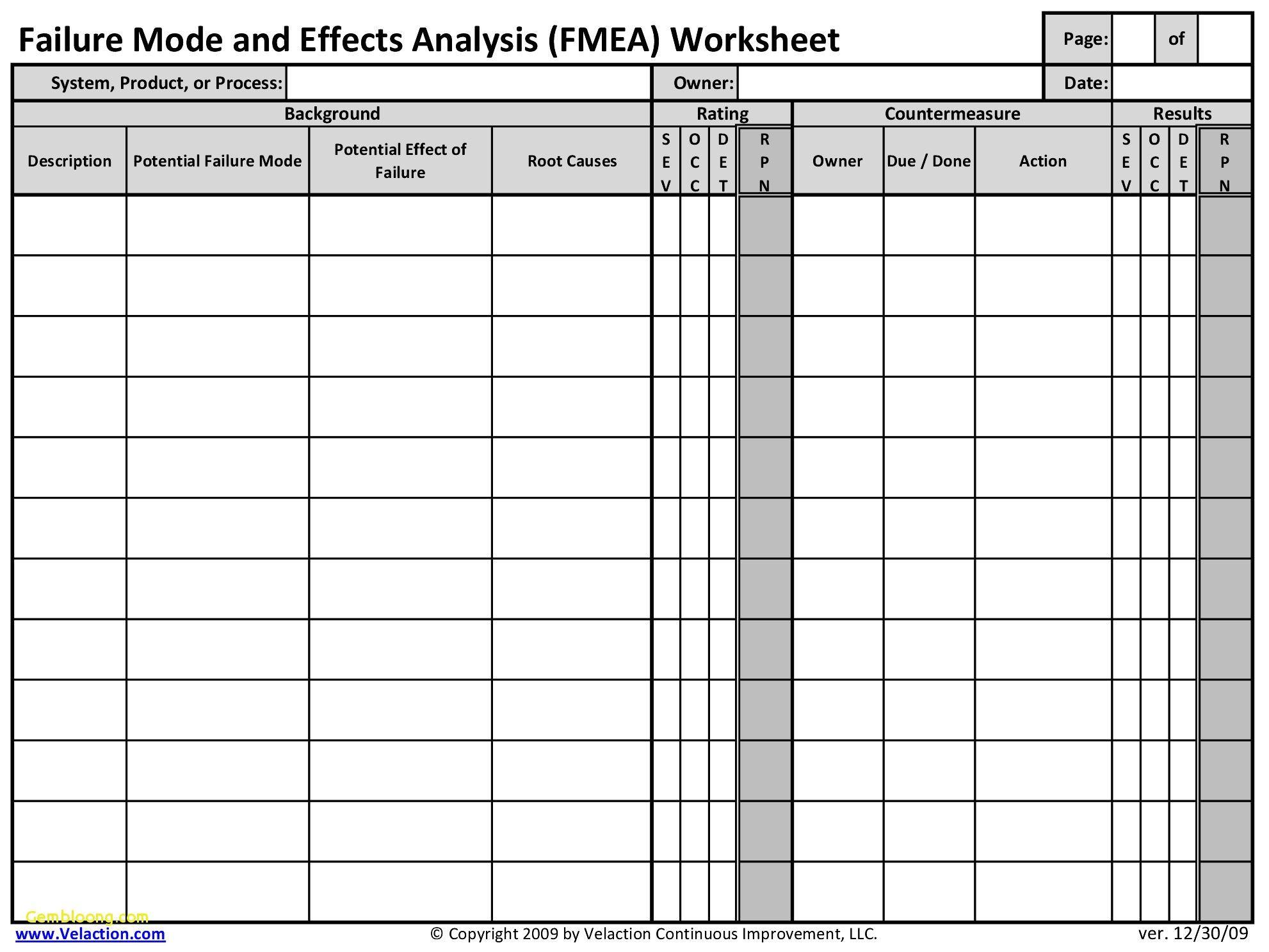 Hazop Template Excel