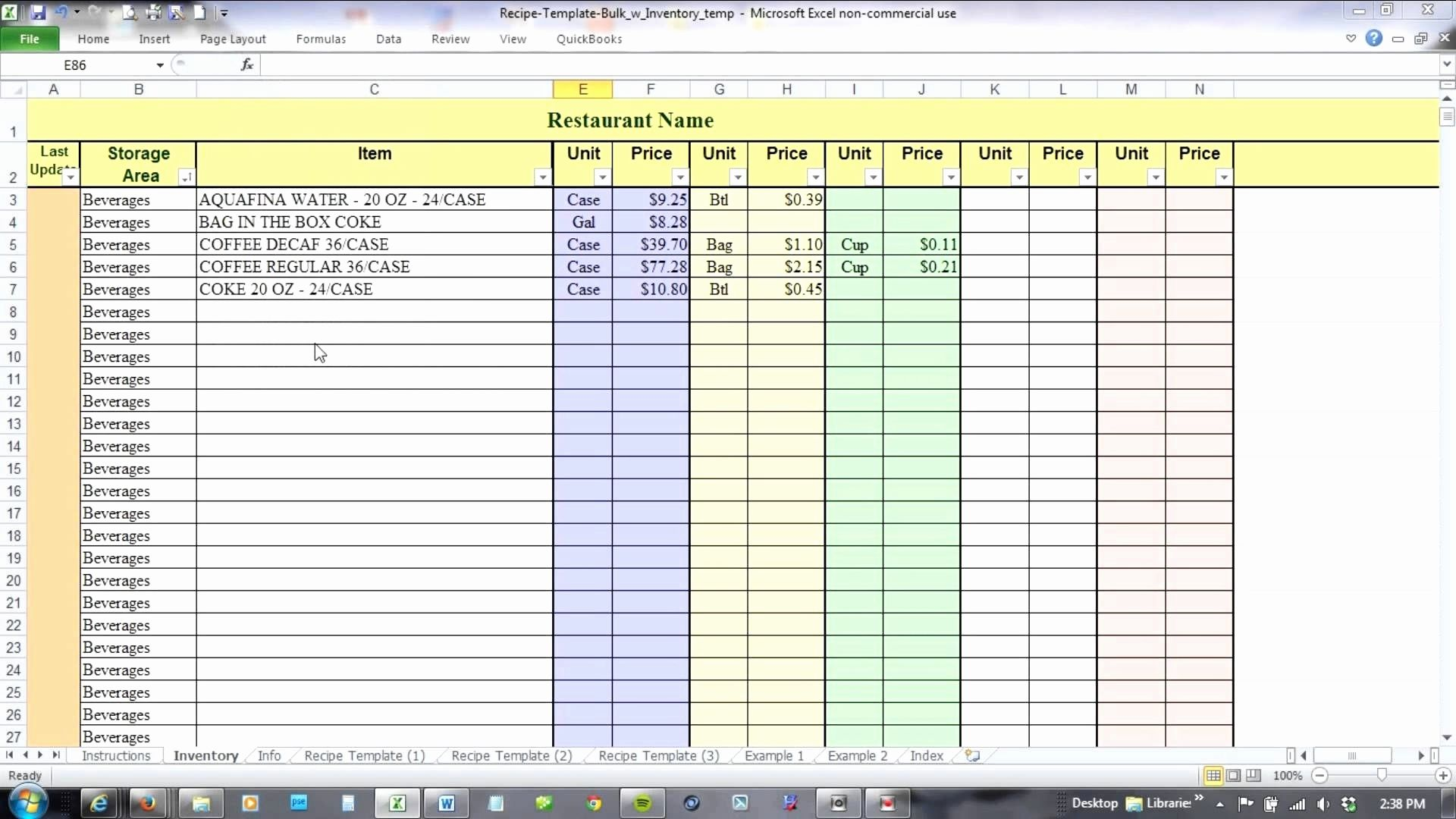 Invoice Sample Excel