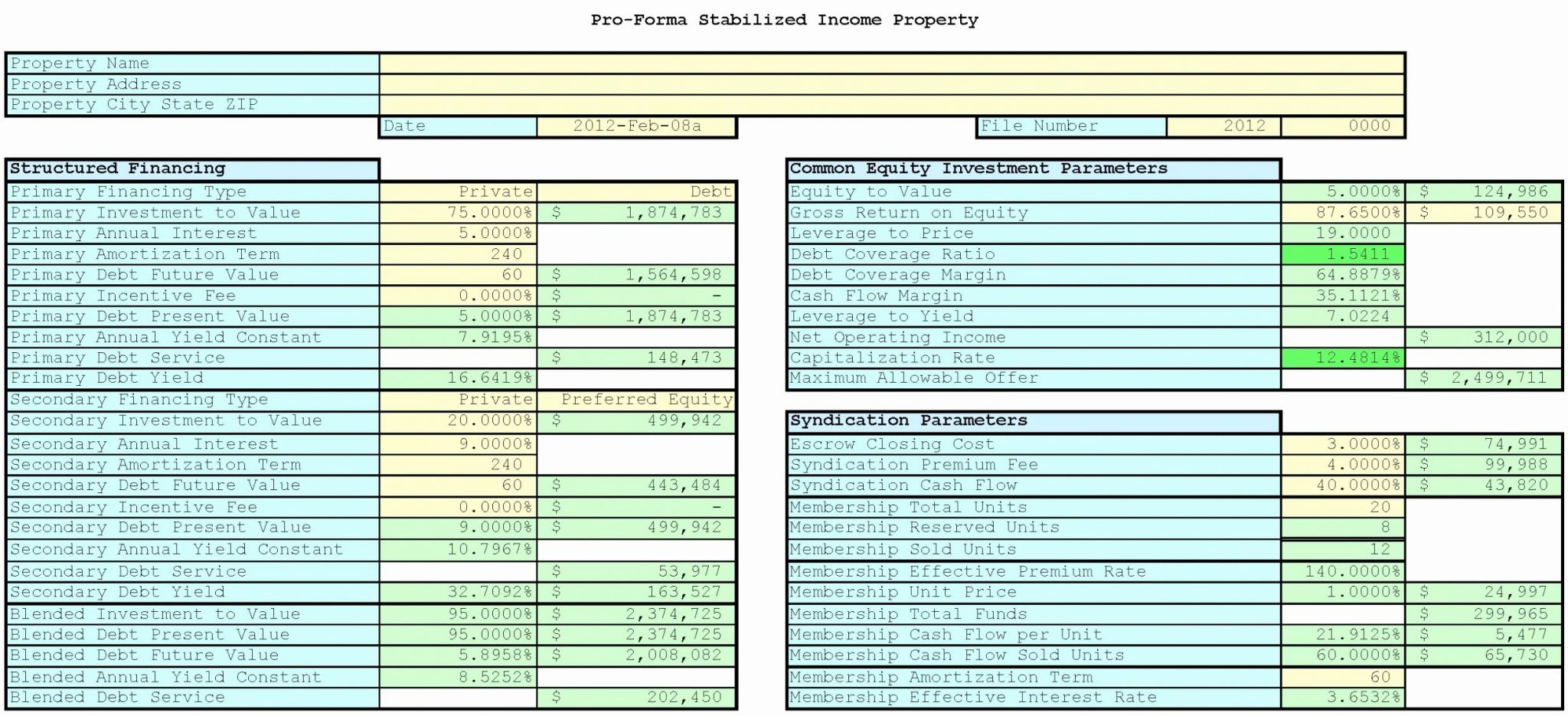Real Estate Comparative Marketysis Spreadsheet