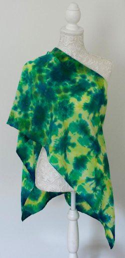 green mandala shibori