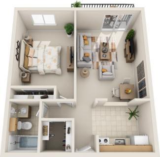 1 Bed / 1 Bath / 610 sq ft / Rent: $995