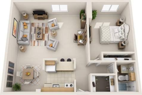 1 Bed / 1 Bath / 800 sq ft / Rent: $1,250