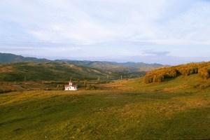 A little church outside Valea Ploului, Romania.