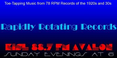 Rapidly Rotating Records Logo 78 RPM Records