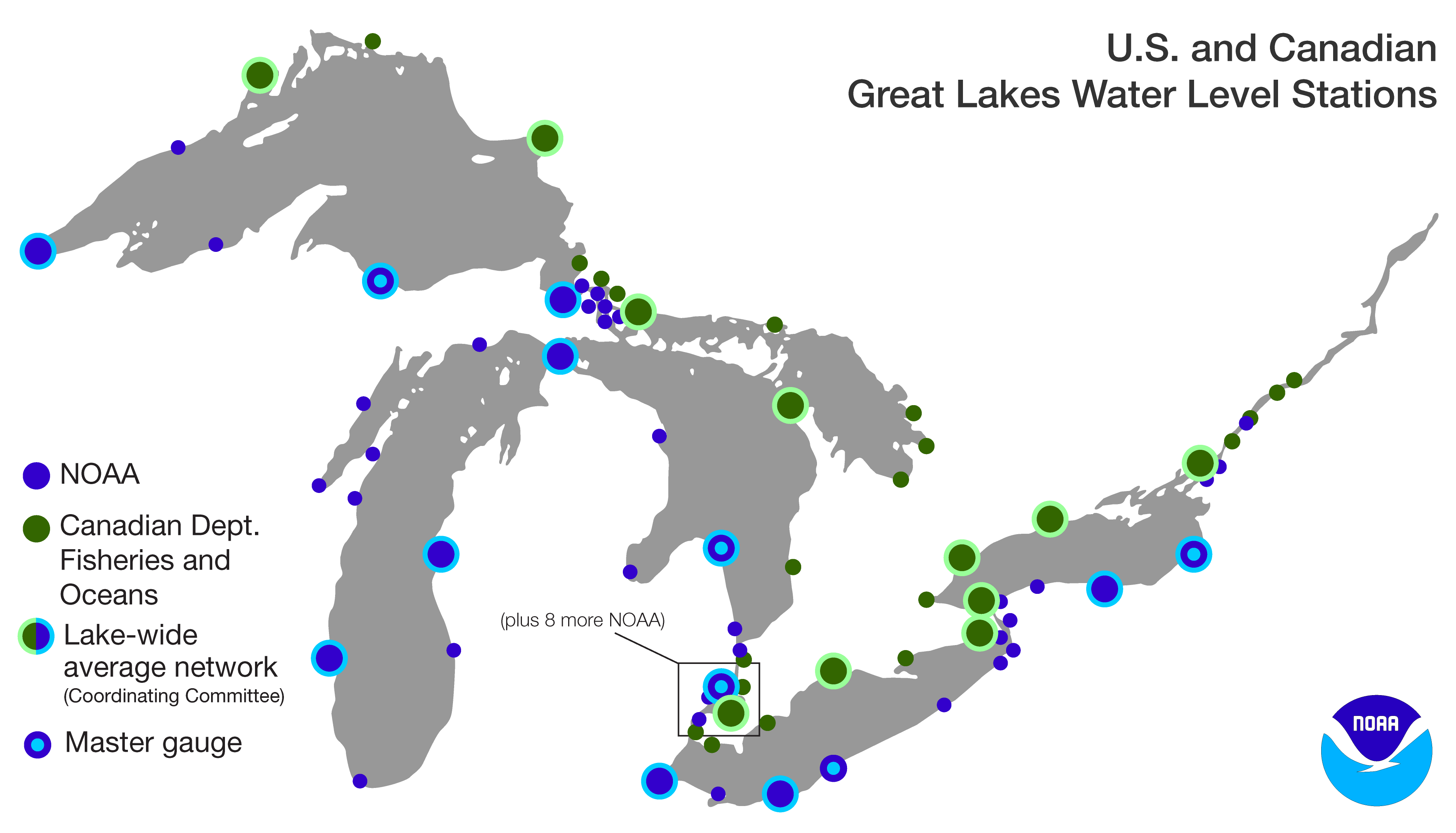 Water Levels Noaa Great Lakes Environmental Research