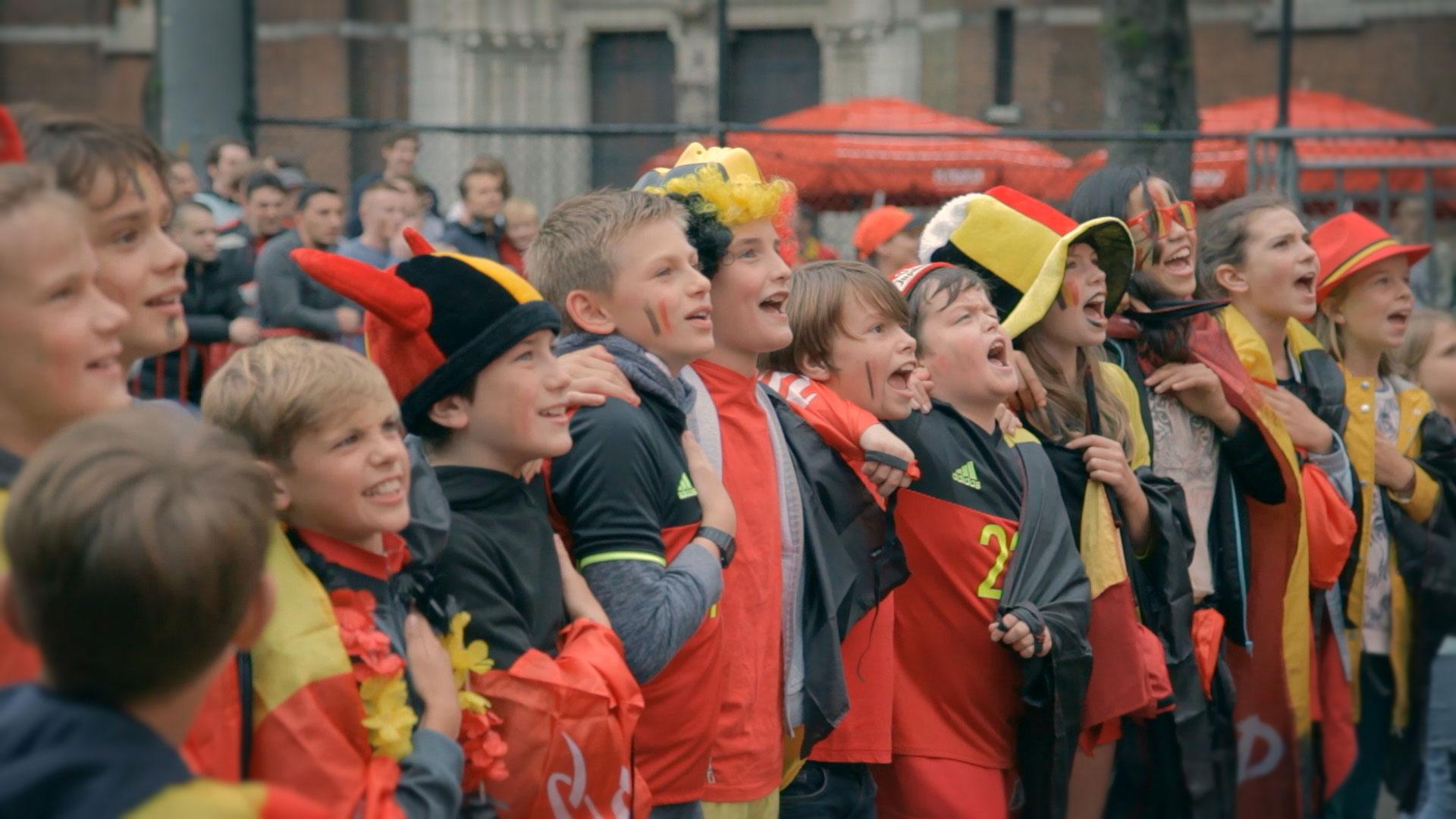 EK voetbal in Antwerpen op groot scherm