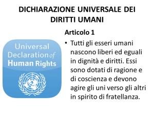 Dich. Universale Diritti Umani