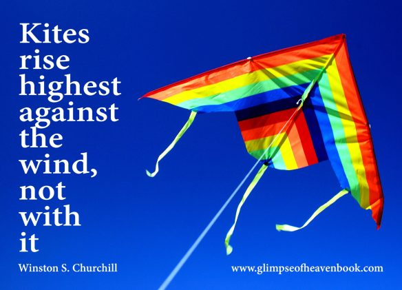 Kites rise highest against the wind, not with it. Winston S. Churchill
