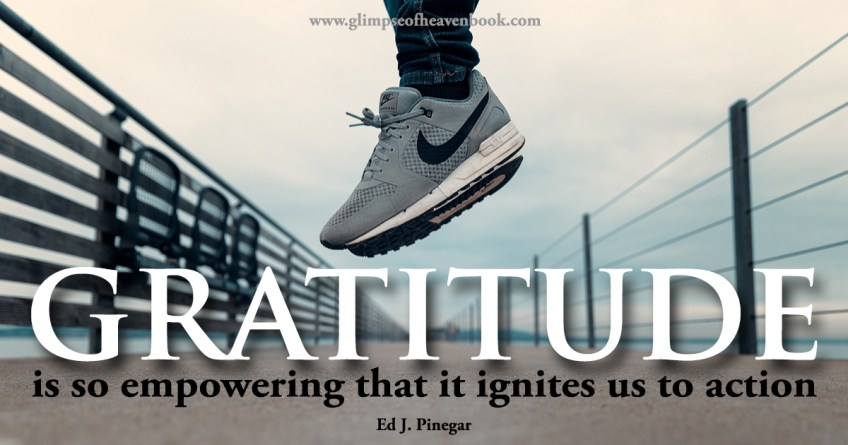 Gratitude is so empowering that it ignites us to action Ed J. Pinegar