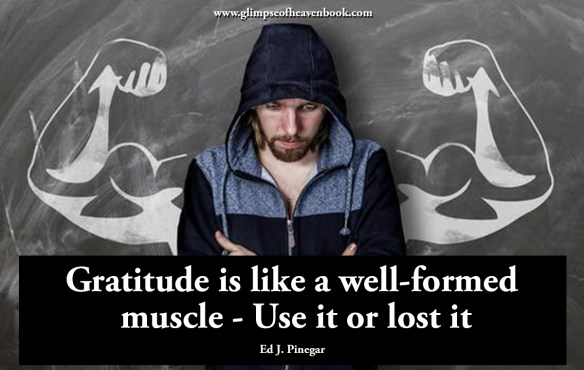 Gratitude is like a well-formed muscle - Use it or lost it Ed J. Pinegar