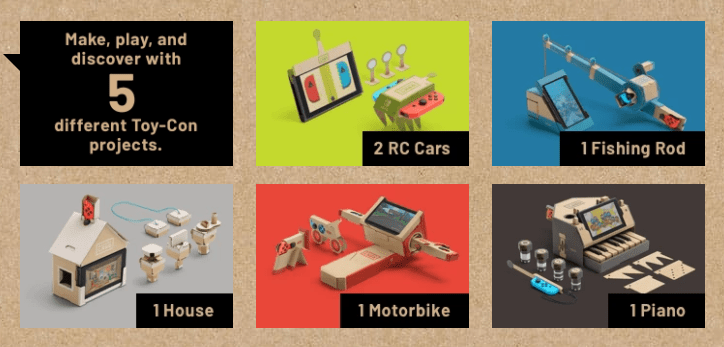 Nintendo Labo Variety Kit Toy Cons