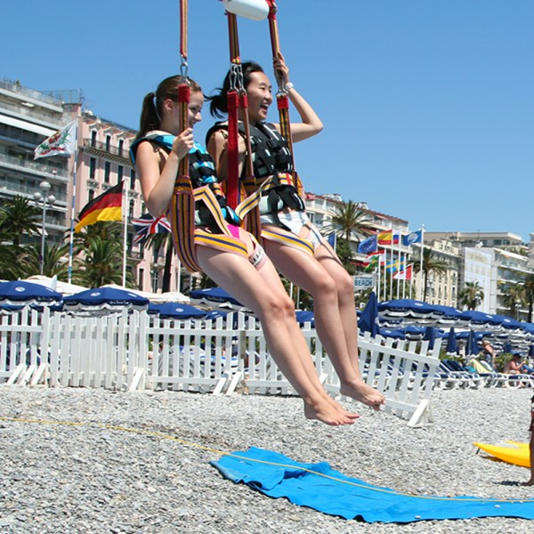 PARASAILING Fly alone at 50 meters above the sea by yourself or with friends security attached,