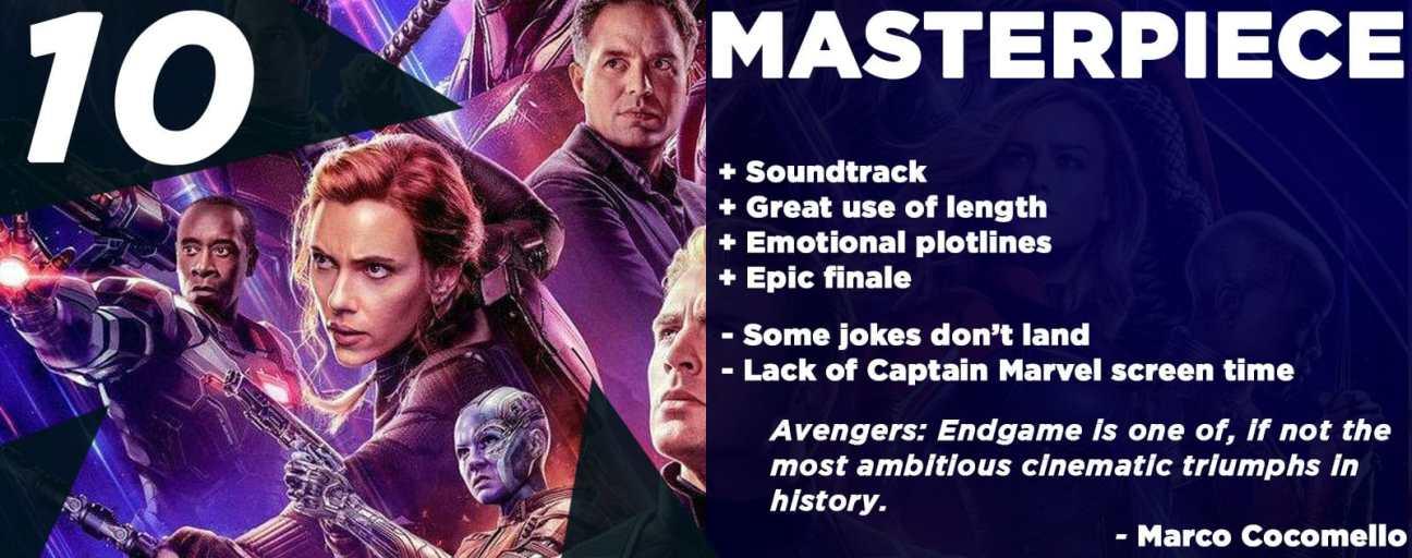 Avengers Endgame Review Score 2