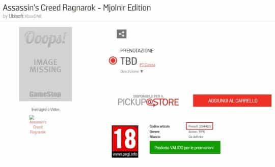 Assassin's Creed Ragnarok PS5 Xbox Series X Ubisoft
