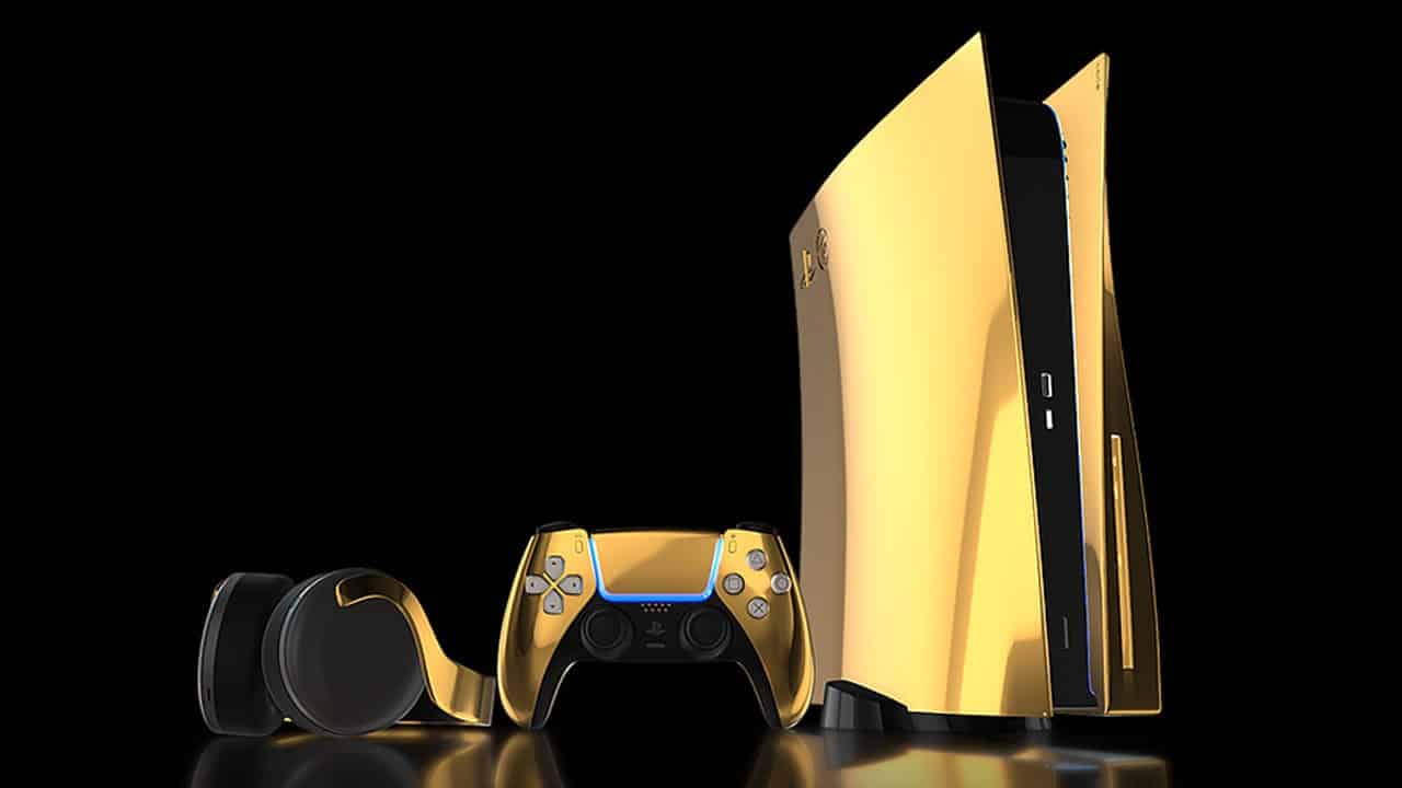 Truly Exquisite 24k Gold PS5 Console PlayStation 5