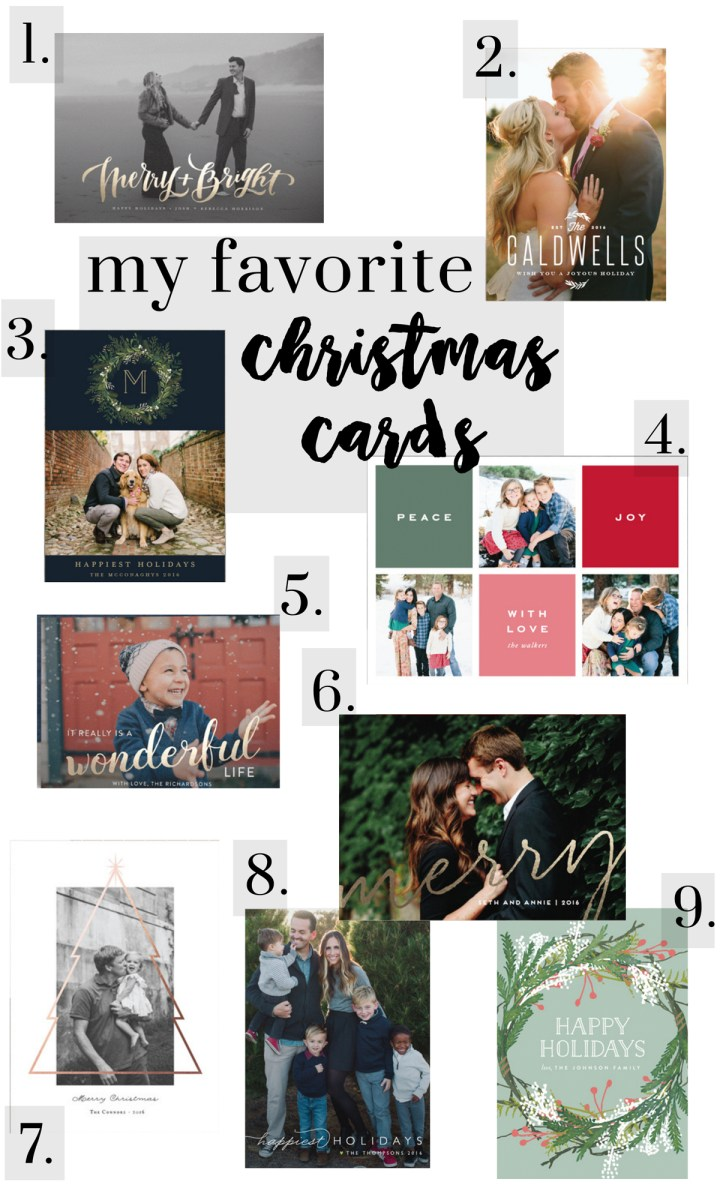 my favorite christmas cards & a $250 Minted giveaway