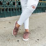 a summer take on suede sneakers