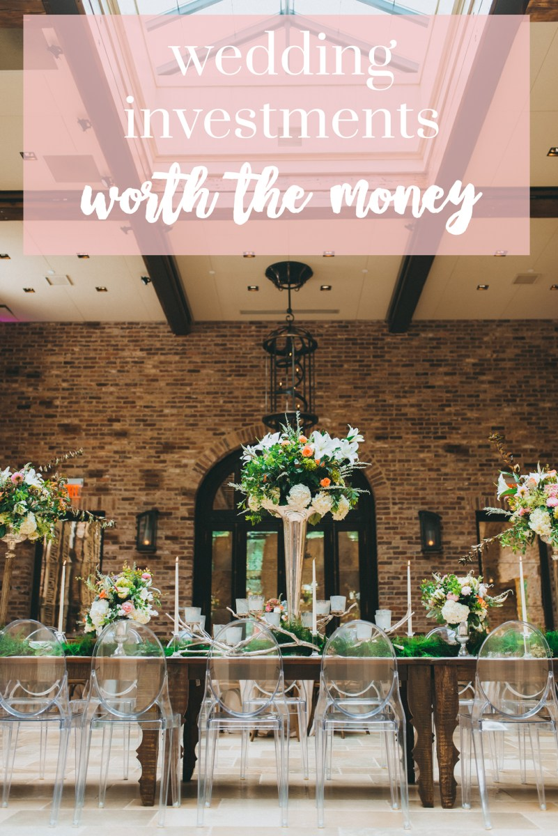 wedding investments that are 100% worth the money