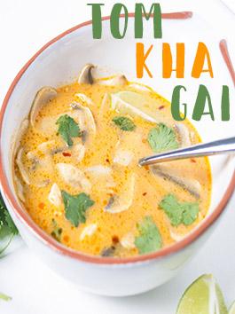 tom kha gai - coconut chicken soup
