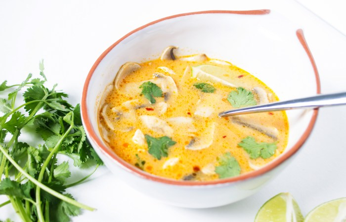 tom kha gai - coconut chicken soup