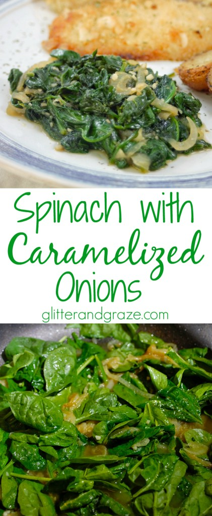 spinach with caramelized onions