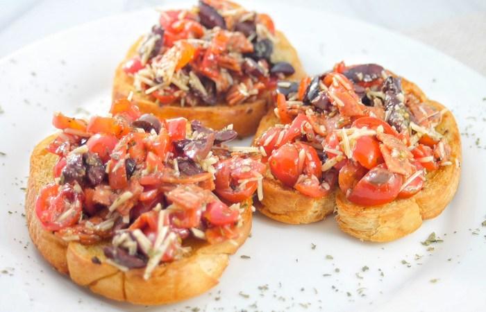 pepperoni bruschetta