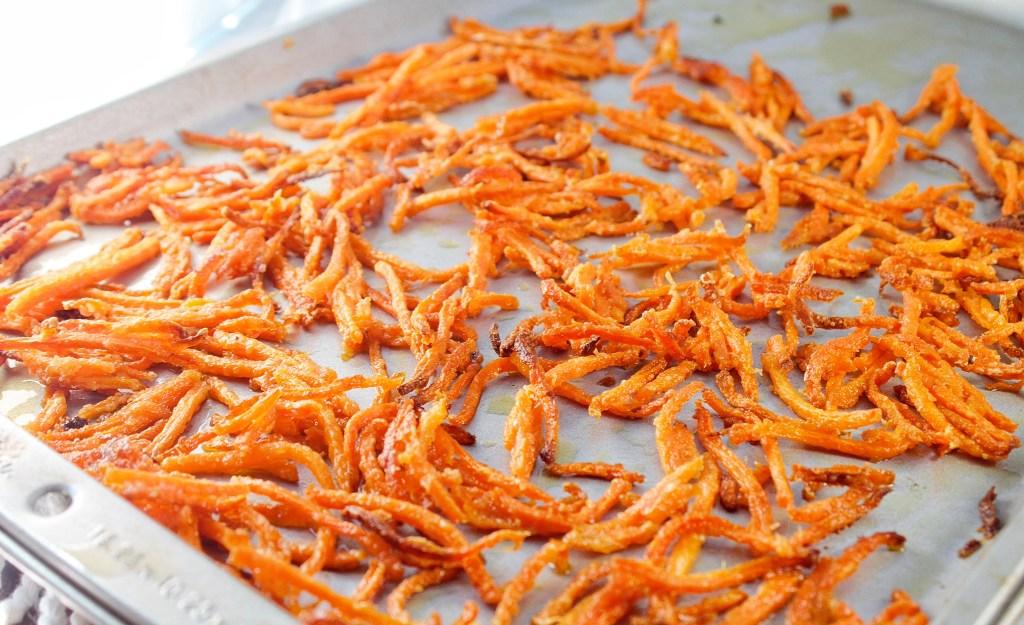 parmesan carrot shoestring fries