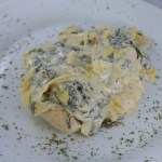 creamy chicken with artichokes and spinach