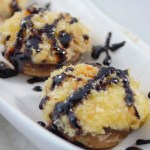 crab stuffed mushrooms with balsamic glaze