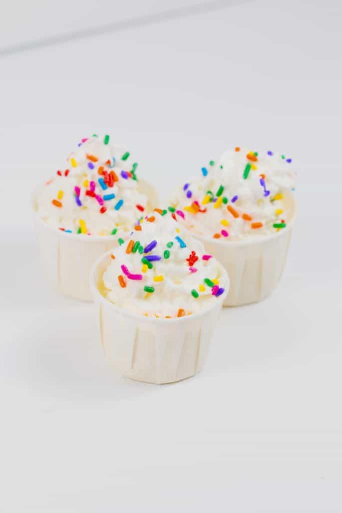 Birthday Cake Pudding Shots Glitter And Graze