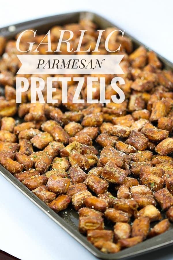 Garlic Parmesan pretzels
