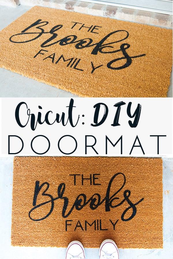 Cricut DIY Doormat - Glitter and Graze