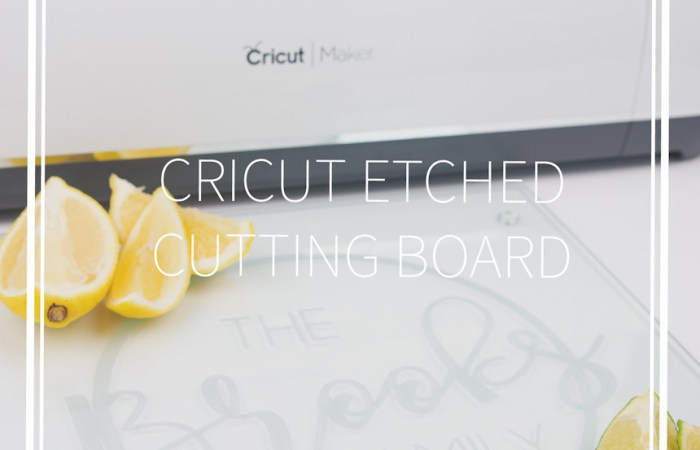 A cricut etched glass cutting board with limes, lemons and a knife
