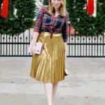 Gold Skirt Holiday Outfit
