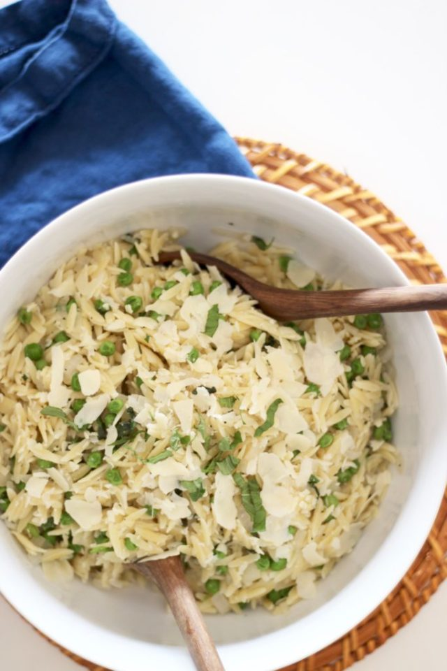 Pasta Salad for party Orzo with Peas recipe