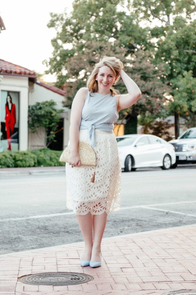 How to Write Your First Blog Post, Ann Taylor Skirt