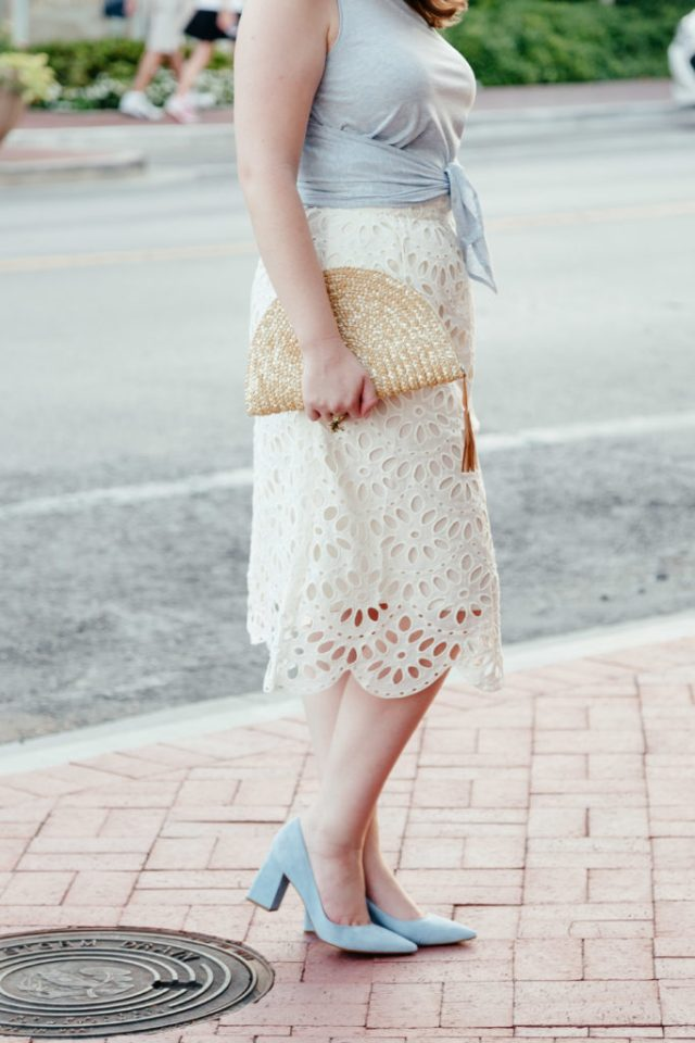 How to Write Your First Blog Entry, Pale Blue Suede Block Heel Pumps