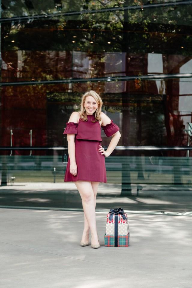 ASOS Crop Top Ruffle Sleeve Mini Dress