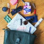 My Summer Travels Bag Spill with Tampax