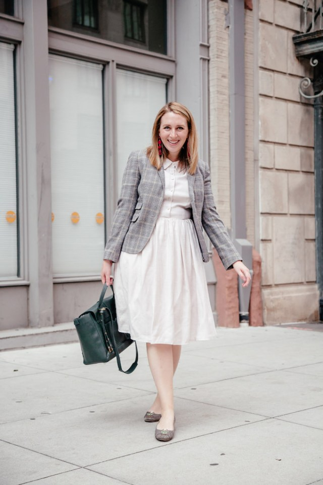 Fall Work Attire | Gal Meets Glam Shirtdress | What I Wear to Work | Business Casual | Business Attire