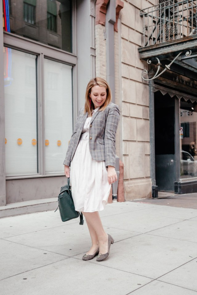 J.Crew Plaid Blazer | How to Style Plaid Without Looking to Christmasy | What to Wear to Work in November
